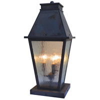 Arroyo Craftsman CRC-10RM-MB Croydon 3 Light 21 inch Mission Brown Column Mount in Rain Mist