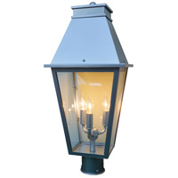 Arroyo Craftsman CRP-10CLR-P Croydon 3 Light 21 inch Pewter Post Mount in Clear