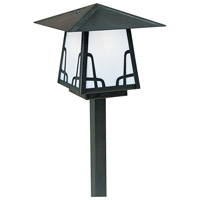 Arroyo Craftsman CSP-8BWO-BK Carmel 60 watt Satin Black Outdoor Landscape in White Opalescent, Bungalow Overlay, Bungalow Overlay thumb