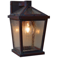Arroyo Craftsman DEB-6CS-RC Devonshire 1 Light 10 inch Raw Copper Outdoor Wall Lantern