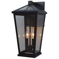 Arroyo Craftsman DEB-8CLR-BZ Devonshire 2 Light 17 inch Bronze Outdoor Wall Lantern
