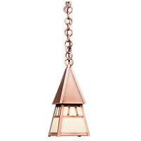 Arroyo Craftsman DH-4CR-AC Dartmouth 1 Light 5 inch Antique Copper Pendant Ceiling Light in Cream
