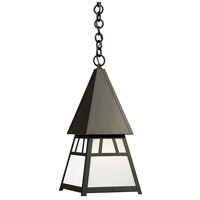 Arroyo Craftsman DH-8WO-BK Dartmouth 1 Light 10 inch Satin Black Pendant Ceiling Light in White Opalescent