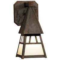 Dartmouth 1 Light 5 inch Mission Brown Wall Mount Wall Light in Off White