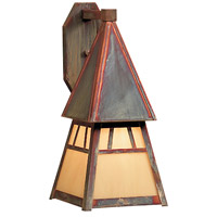 Arroyo Craftsman DS-6TN-RC Dartmouth 1 Light 8 inch Raw Copper Wall Mount Wall Light in Tan
