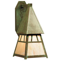 Arroyo Craftsman DS-8GW-VP Dartmouth 1 Light 10 inch Verdigris Patina Wall Mount Wall Light in Gold White Iridescent