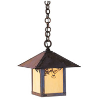 Arroyo Craftsman EH-12HFTN-MB Evergreen 1 Light 12 inch Mission Brown Pendant Ceiling Light in Tan
