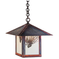 Arroyo Craftsman EH-16PFOF-RC Evergreen 1 Light 16 inch Raw Copper Pendant Ceiling Light in Off White photo thumbnail