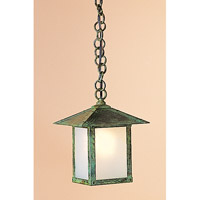 Arroyo Craftsman EH-7EF-VP Evergreen 1 Light 7 inch Verdigris Patina Pendant Ceiling Light in Frosted photo thumbnail