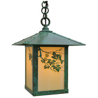 Arroyo Craftsman EH-9SFOF-VP Evergreen 1 Light 9 inch Verdigris Patina Pendant Ceiling Light in Off White
