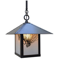 Arroyo Craftsman ESH-12PFF-BZ Evergreen 1 Light 12 inch Bronze Pendant Ceiling Light in Frosted