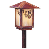 Arroyo Craftsman ESP-7SFGW-RC Evergreen 60 watt Raw Copper Landscape Light in Gold White Iridescent