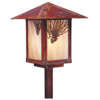 Arroyo Craftsman Evergreen 1 Light Pathway Light in Raw Copper ESP-9PFGW-RC