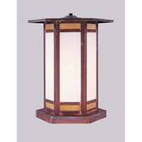 Arroyo Craftsman Etoile 1 Light Column Mount in Raw Copper ETC-14GWC-RC