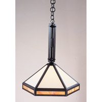 Etoile 1 Light 14 inch Bronze Pendant Ceiling Light in Gold White Iridescent and White Opalescent Combination