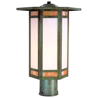 Arroyo Craftsman ETP-11GWC-VP Etoile 1 Light 16 inch Verdigris Patina Post Mount
