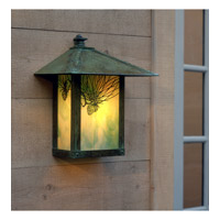 Arroyo Craftsman EW-12PFGW-VP Evergreen 1 Light 11 inch Verdigris Patina Wall Mount Wall Light in Gold White Iridescent photo thumbnail