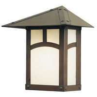 Arroyo Craftsman EW-7SFF-BK Evergreen 1 Light 8 inch Satin Black Outdoor Wall Mount in Frosted photo thumbnail