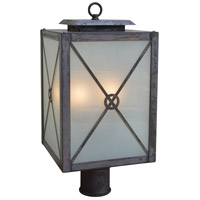 Arroyo Craftsman EXP-9CLR-P Exeter 2 Light 16 inch Pewter Post Mount