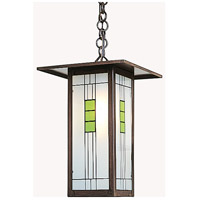 Arroyo Craftsman FH-9LG-BZ Franklin 1 Light 9 inch Bronze Pendant Ceiling Light in Green and Black Silk Screen