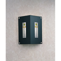 Franklin 1 Light 9 inch Satin Black ADA Wall Mount Wall Light in Yellow and Green Silk Screen