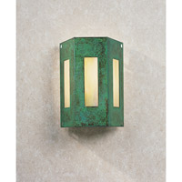 Franklin 1 Light 8 inch Verdigris Patina Wall Mount Wall Light in Gold White Iridescent