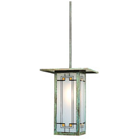 Arroyo Craftsman FSH-9LY-VP Franklin 1 Light 9 inch Verdigris Patina Pendant Ceiling Light in Yellow and Black Silk Screen photo thumbnail