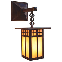 Arroyo Craftsman GB-6LSAGW-RC Glasgow 1 Light 14 inch Raw Copper Outdoor Wall Mount in Gold White Iridescent