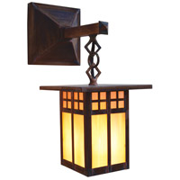 Arroyo Craftsman GB-6SAGW-RC Glasgow 1 Light 12 inch Raw Copper Outdoor Wall Mount in Gold White Iridescent