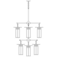 Arroyo Craftsman GCH-9L/4/4-1CR-BK Glasgow 9 Light 33 inch Satin Black Foyer Chandelier Ceiling Light in Cream photo thumbnail