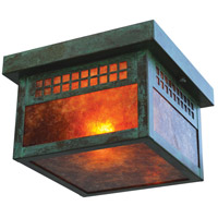 Arroyo Craftsman GCM-8M-VP Glasgow 2 Light 8 inch Verdigris Patina Flush Mount Ceiling Light
