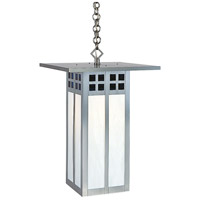 Arroyo Craftsman GH-18LBC-P Glasgow 1 Light 18 inch Pewter Pendant Ceiling Light in Blue and White Opalescent Combination