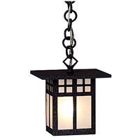 Arroyo Craftsman GH-6F-BK Glasgow 1 Light 6 inch Satin Black Pendant Ceiling Light in Frosted photo thumbnail