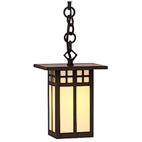 Arroyo Craftsman GH-6LCR-RB Glasgow 1 Light 6 inch Rustic Brown Pendant Ceiling Light in Cream