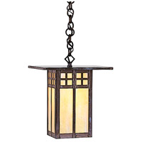 Arroyo Craftsman GH-9OF-BK Glasgow 1 Light 9 inch Satin Black Pendant Ceiling Light in Off White