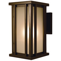 Arroyo Craftsman GLB-6F-RB Glencoe 1 Light 11 inch Rustic Brown Outdoor Wall Mount in Frosted