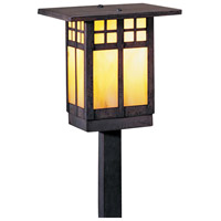 Arroyo Craftsman GSP-6GW-MB Glasgow 60 watt Mission Brown Landscape Light in Gold White Iridescent