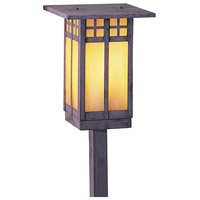 Arroyo Craftsman GSP-6LGW-MB Glasgow 60 watt Mission Brown Landscape Light in Gold White Iridescent
