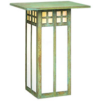 Glasgow 1 Light 9 inch Verdigris Patina Wall Mount Wall Light in Gold White Iridescent and White Opalescent Combination
