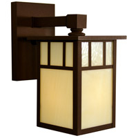 Arroyo Craftsman HB-4LWDTGW-MB Huntington 1 Light 5 inch Mission Brown Wall Mount Wall Light in Gold White Iridescent