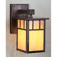 Arroyo Craftsman HB-4LWDTGW-MB Huntington 1 Light 5 inch Mission Brown Wall Mount Wall Light in Gold White Iridescent photo thumbnail