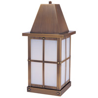 Arroyo Craftsman HC-8WO-AB Hartford 1 Light 19 inch Antique Brass Column Mount in White Opalescent