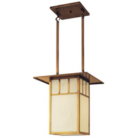 Arroyo Craftsman HCM-18DTWO-AB Huntington 2 Light 18 inch Antique Brass Pendant Ceiling Light in White Opalescent