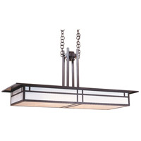 Arroyo Craftsman HCM-48DTWO-BZ Huntington 4 Light 22 inch Bronze Pendant Ceiling Light in White Opalescent