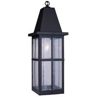 Arroyo Craftsman HH-8LWO-BK Hartford 1 Light 8 inch Satin Black Pendant Ceiling Light in White Opalescent