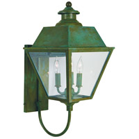 Arroyo Craftsman INB-10MRCLR-VP Inverness 3 Light 23 inch Verdigris Patina Outdoor Wall Mount in Clear photo thumbnail