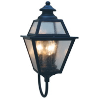 Arroyo Craftsman INB-8GRCLR-AB Inverness 3 Light 18 inch Antique Brass Outdoor Wall Mount in Clear
