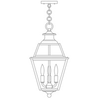 Arroyo Craftsman INH-10GRRM-P Inverness 3 Light 10 inch Pewter Pendant Ceiling Light in Rain Mist photo thumbnail