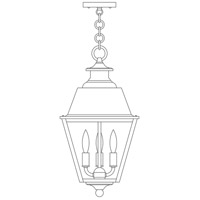 Arroyo Craftsman INH-10MRCLR-AC Inverness 3 Light 10 inch Antique Copper Pendant Ceiling Light in Clear photo thumbnail