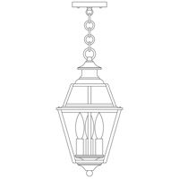 Arroyo Craftsman INH-8GRCLR-RC Inverness 3 Light 8 inch Raw Copper Pendant Ceiling Light in Clear photo thumbnail